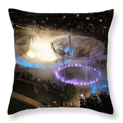 D101l-216 Scioto Mile Riverfront Park Fountain Photo Throw Pillow
