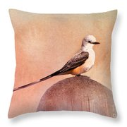 Scissor-tailed Flycatcher Throw Pillow