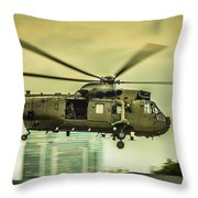 Sea King Helicopter Throw Pillow