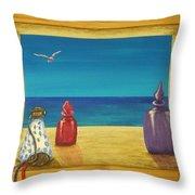 Sea View One Throw Pillow