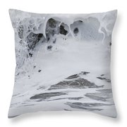 Seafoam Wave Throw Pillow