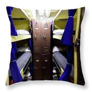 Seaman Lockers And Bunks Aboard Uss Throw Pillow