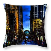 Seattle Streets Throw Pillow