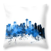 Seattle Washington Skyline Throw Pillow by Michael Tompsett