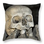 Sedlec Ossuary - Charnel House Throw Pillow