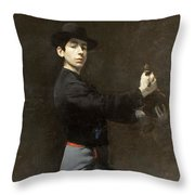 Self-portrait Throw Pillow