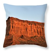 Sentinel Mesa Monument Valley Throw Pillow by Christine Till