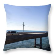 Seven Mile Bridge Florida Keys Throw Pillow
