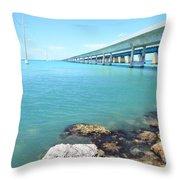 Seven Mile Bridge-1 Throw Pillow