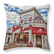 Shadow Of The Stadium Throw Pillow