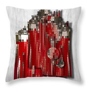 Shapes Of Things Throw Pillow by Jack Zulli