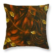 She...autumn Throw Pillow by Elena  Constantinescu