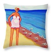 Shorebirds Of A Feather Throw Pillow
