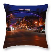 D8l-353 Short North Gallery Hop Photo Throw Pillow