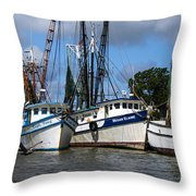 Saltwater Cowboys Throw Pillow