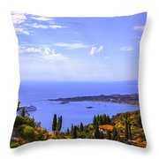 Sicily View Throw Pillow