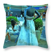 Sidewalk Catwalk 13 Throw Pillow