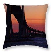 Sidney Lanier Bridge At Sunset Throw Pillow