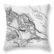 Siege Of Yorktown, 1781 Throw Pillow
