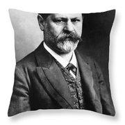 Sigmund Freud (1856-1939) Throw Pillow