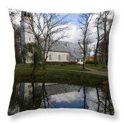 Sigulda Church Throw Pillow
