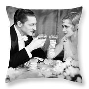 Silent Film Still: Drinking Throw Pillow by Granger