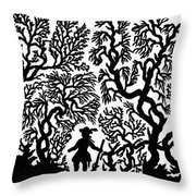 Silhouette, 19th Century Throw Pillow