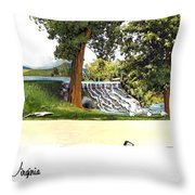 Silver Lake Mill -summer Throw Pillow