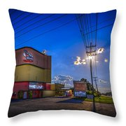 Silver Moon Throw Pillow by Marvin Spates