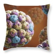 Simian Immunodeficiency Virus Throw Pillow