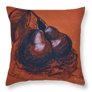 Simply Pears Throw Pillow