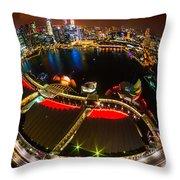 Singapore City Skyline Throw Pillow
