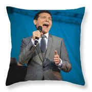 Singer Michael Feinstein Performing With The Pasadena Pops. Throw Pillow