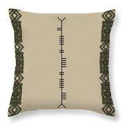 Sinnott Written In Ogham Throw Pillow