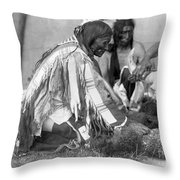 Sioux Medicine Man, C1907 Throw Pillow