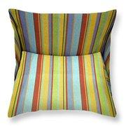 Sitting On Stripes Throw Pillow