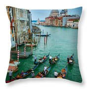Six Gondolas Throw Pillow