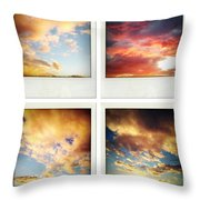 Skies Throw Pillow by Les Cunliffe
