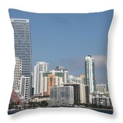 Skyline Miami Throw Pillow