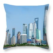 Skylines At The Waterfront, Oriental Throw Pillow