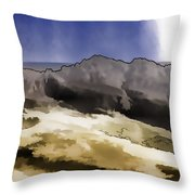Slope Of Hills In The Scottish Highlands Throw Pillow