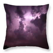 Small But Eruptive Cell North Of Kearney Throw Pillow