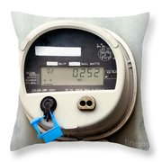 Smart Grid Residential Digital Power Supply Meter Throw Pillow