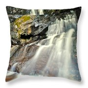 Smoky Mountain Falls Throw Pillow