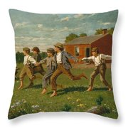 Snap The Whip Throw Pillow
