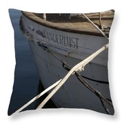 S.o. Wanderlust Throw Pillow by Amanda Barcon
