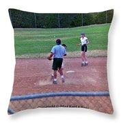 Softball Game Throw Pillow