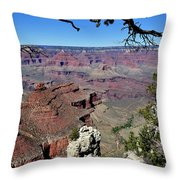 South Rim Of The Grand Canyon Throw Pillow