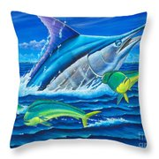 South Side Blue Throw Pillow