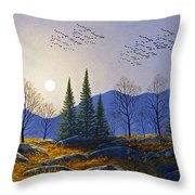 Southern Migration By Moonlight Throw Pillow
